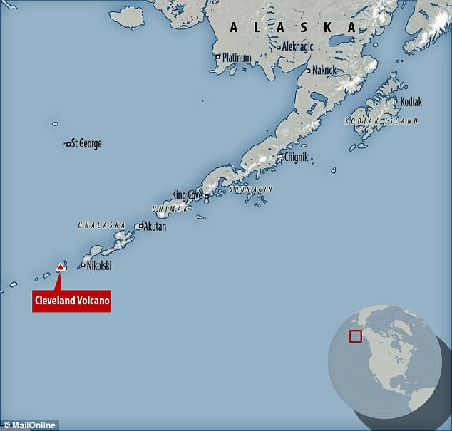 Mount Cleveland is an active volcano on a remote Aleutian island that sits close to major air traffic routes