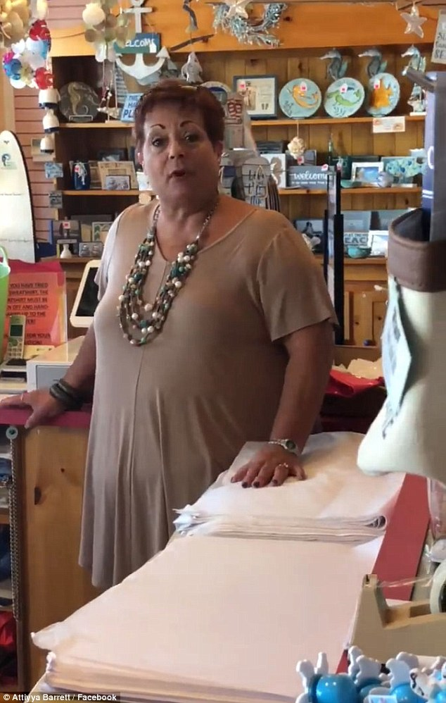 A gift shop worker, who was named only as 'Linda', has been fired after she told a group of black girls they were not welcome to browse the store without a chaperone