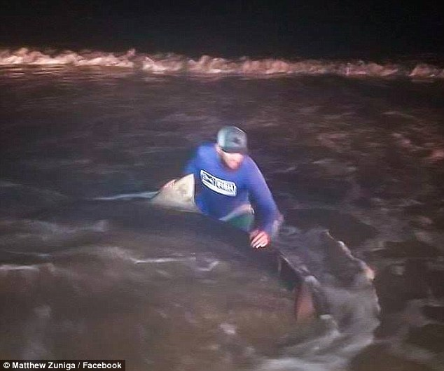 Zuniga fought for another twohours to tag the shark and take pictures before releasing it