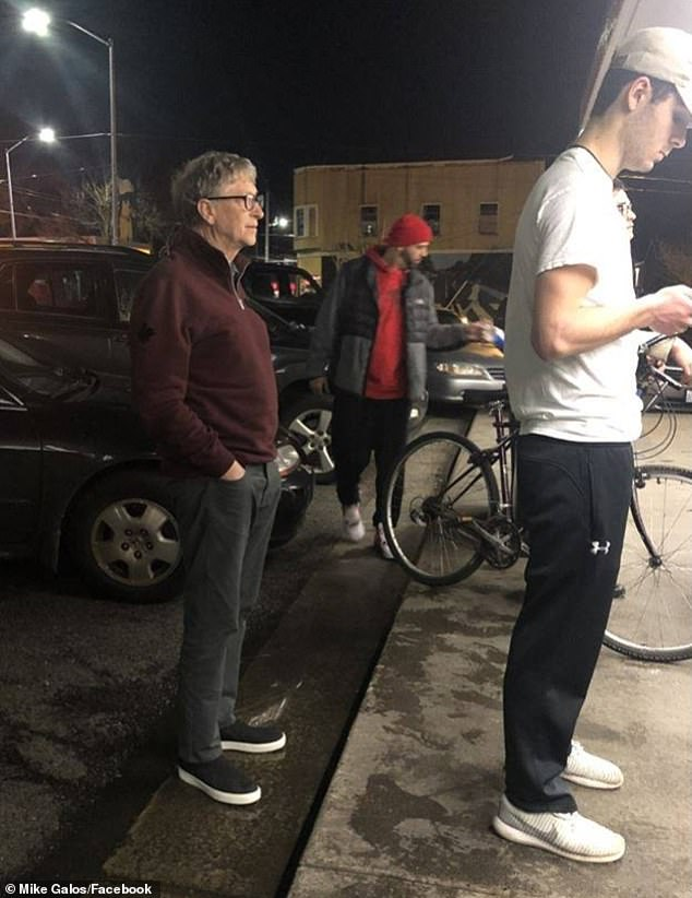 Billionaire Bill Gates, 63, was spotted in line at Dick's Drive-In burger joint in Seattle on Sunday