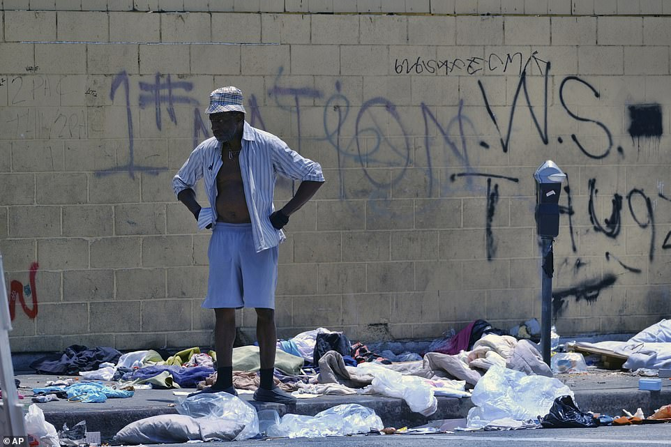 The division where a Los Angeles police detective has been diagnosed with typhoid fever polices downtown Los Angeles, including the notorious Skid Row area where hundreds of homeless people camp on the streets