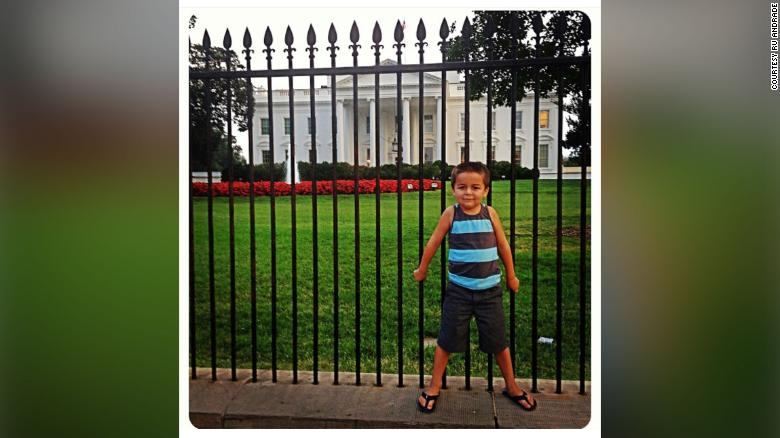 Jack Rico standing in front of the White House when he was a four-year-old.