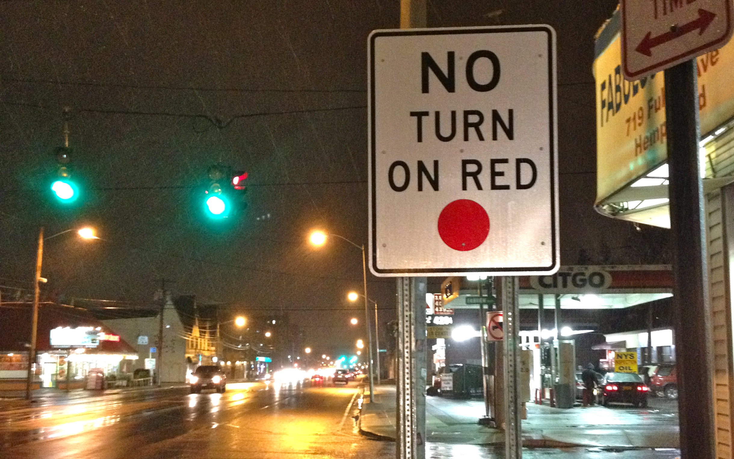 no turn on red - ibid